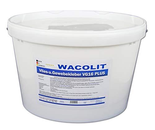 16 kg WACOLIT Vlies- u. Gewebekleber, Fertigkleber Vlieskleber für Glattvlies Renoviervlies Vliestapeten