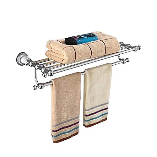 JJ-SHOP Toalleros para baño, Toallero de baño Estilo Europeo Toallero de una Sola Capa de Plata Antigua Toallero multifunción Retro