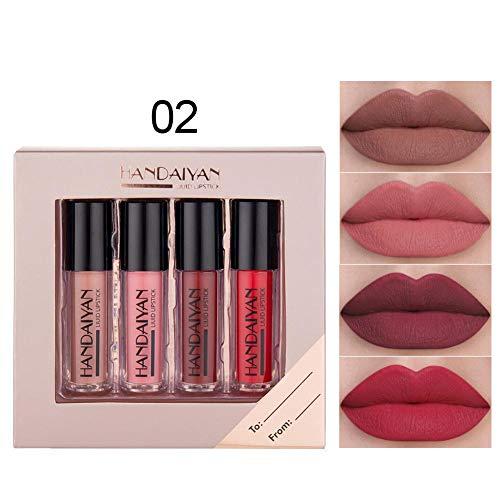N/Y Lipgloss Set Antihaft-Glasur Matte Liquid Lipsticks für Mädchen Damen Make-up