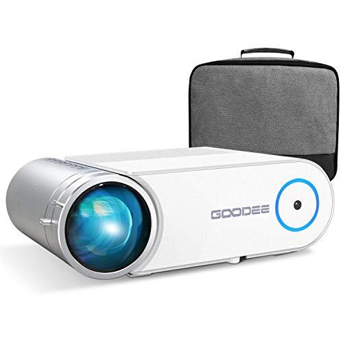 GooDeeプロジェクター LED 小型プロジェクター 4600ルーメン 1080PフルHD対応可能 ホームプロジェクター コンパクト 大画面 内臓スピーカー ホームシアター パソコン タブレット ゲーム機 PS4 DVDプレーヤーなど接続可 (S3)