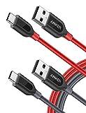 Anker [2-Pack Powerline+ USB C Kabel, 1.8m, für...