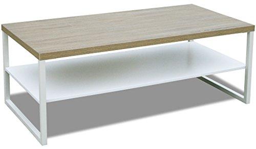KMH®, Couchtisch, Wohnzimmertisch Steffen mit Ablage 120 x 60 cm Eichen-Dekor (#205611)