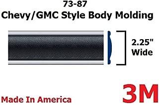 1973-1987 Chevy GMC Black Side Body Trim Molding Full Size Pickup Truck - 2.25
