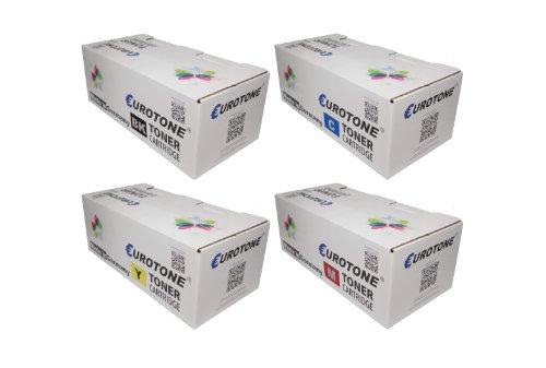 Eurotone Toner Cartridges für Samsung CLP 620/670 CLX 6220/6250 ersetzten CLT-K5082L CLT-C5082L CLT-Y5082L CLT-M5082L Patronen im Spar Set - kompatible Premium Kit Alternative - Non OEM