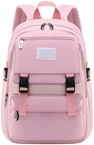 Schulrucksack Schultaschen für Mädchen Teenager, Casual Canvas Schulrucksack Causal Rucksack Freizeitrucksack Daypacks Backpack für Mädchen Jungen Teenager Laptop Rucksack Outdoor Reisetasche Rosa