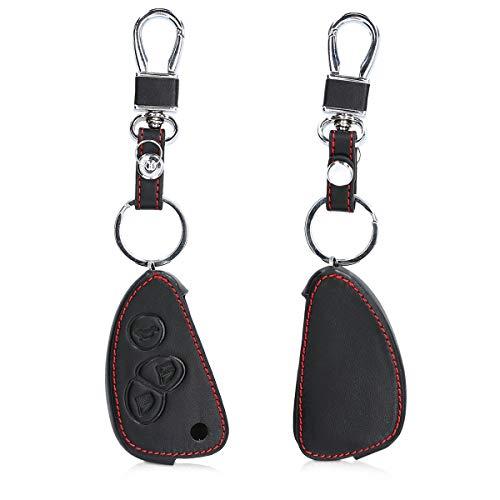 kwmobile Autoschlüssel Hülle kompatibel mit Alfa Romeo 3-Tasten Klappschlüssel Autoschlüssel - Kunstleder Schutzhülle Schlüsselhülle Cover - Schwarz