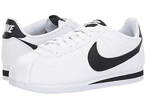 Nike WMNS Classic Cortez - Zapatillas de piel, color Blanco, negro y blanco., tamaño 40.5