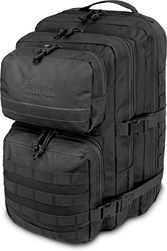 normani US Assault Pack Large, Rucksack, 50 Liter Farbe Schwarz