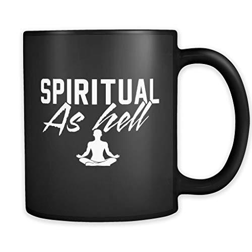 Taza de cerámica de 325 ml con diseño divertido de yoga, ideal como regalo de pilates, ideal como regalo espiritual como el infierno.