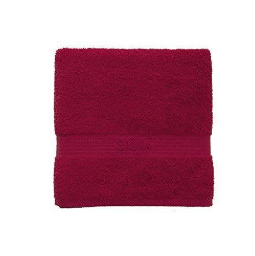 Dames heren sauna handdoek strandlaken 100% katoen badstof 70 x 200 cm sauna opschrift