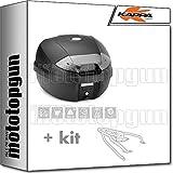 kappa maleta k30nt 30 lt + portaequipaje monolock compatible con triumph bonneville t120 2020 20