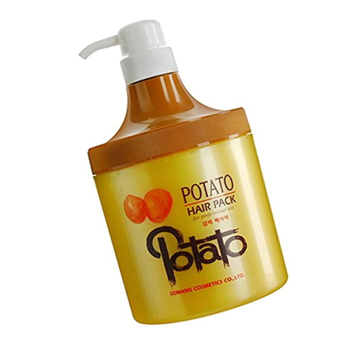シネウィ膜砲撃【韓国コスメ】[Somang/希望]Somang Potato Hair Pack 800ml/ポテト(ジャガッイモ)ヘアパク(海外直送品)