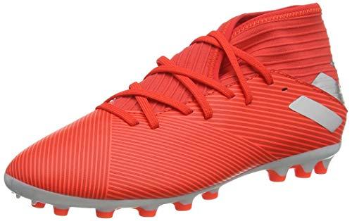 Adidas Nemeziz 19.3 AG J, Botas de fútbol Unisex Adulto, Multicolor Rojact Plamet Rojsol 000, 36 2/3 EU