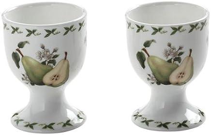 Preisvergleich für Maxwell & Williams PB8406 Orchard Fruits Eierbecher, Eierhalter, Motiv: Birne, 2er Set, in Geschenkbox, Porzellan