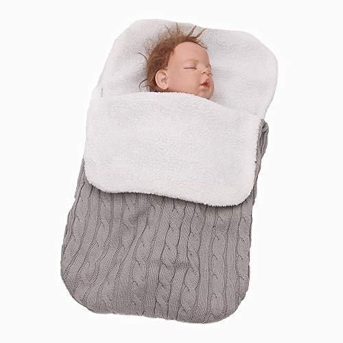 Infantastisch baby slaapzak winter voetenzak Warmer voor wandelwagen auto stoel Lichtgrijs