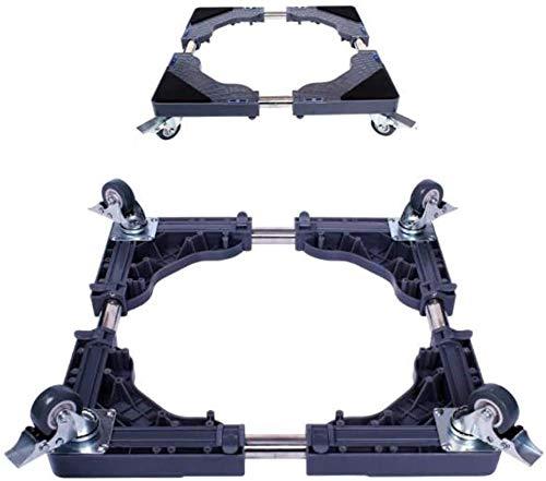 Dongyd 4-wheel Lockable Mobile Stand Rack Washing Machine Base Adjustment Frame Pad Foot Roll Moving Frame Bracket (Color : Gray)