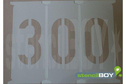 Zahlenschablonen 300mm nach DIN 1451