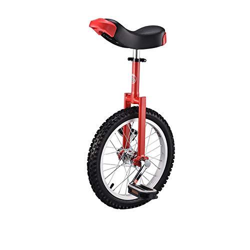 Rad Einrad einzelnes Rad Fahrrad-Rad Einrad High-Strength Manganstahl Gabel Adjustable Seat Aluminiumlegierung Buckle Erwachsenen-Trainer Unicycle Red-20inch