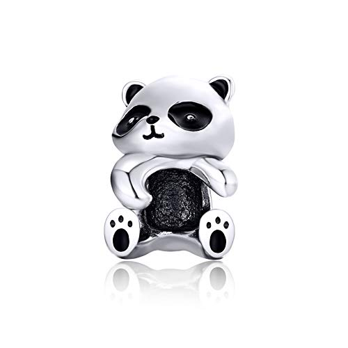 LaMenars - Abalorio de plata de ley 925 con diseño de panda...