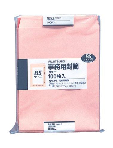 マルアイ 封筒 B5 角形3号 角3 カラー封筒 ピンク 100枚 PK-131P
