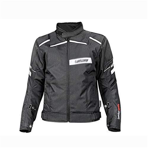 Chaqueta de montar en coche del motorista Motocicleta Jersey Hombre Rider Traje Racing Transpirable Anti-Otoño Impermeable Motocicleta Montando Air Biker Chaqueta ( Color : Black , Size : XXXX-Large )
