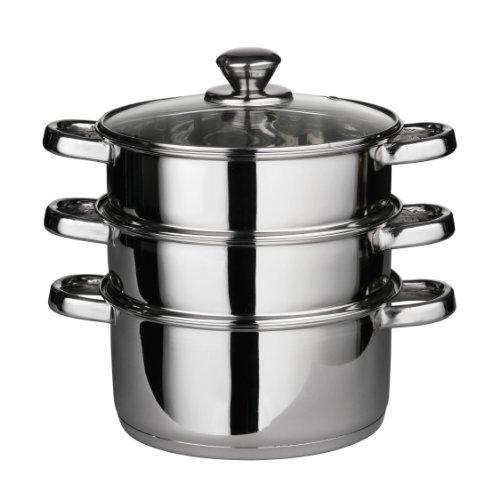 Premier Housewares - Set de cocción al Vapor (Tapa de Crist