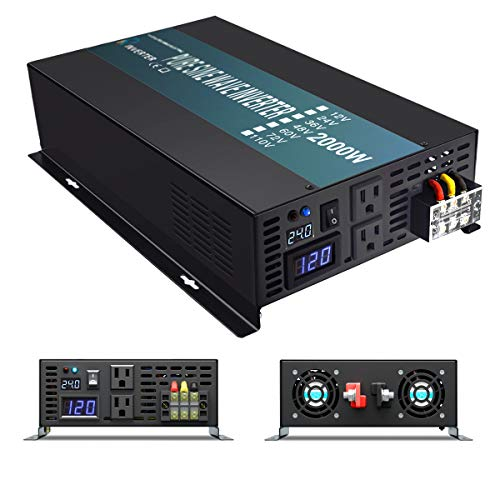 WZRELB Reliable 2000W High Frequency LED Display Power Generator True Pure Sine...