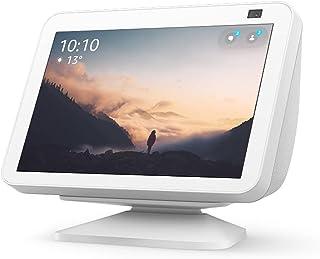 Echo Show 8 (2nd Gen) with adjustable stand | Glacier White