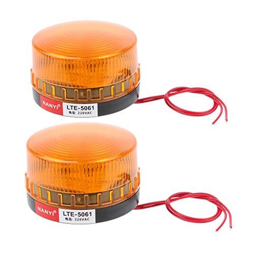 2 Piezas Luz Advertencia Taller Faro Emergencia LED Estroboscópica Intermitente...