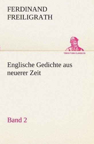Englische Gedichte aus neuerer Zeit 2 (TREDITION CLASSICS)