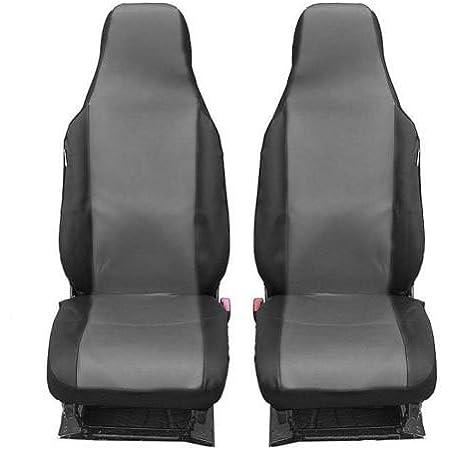 2 Vordere Auto Sitzbezug Sitzbezüge Schonbezüge Schonbezug Einteilig Grau Polyester Neu Auto