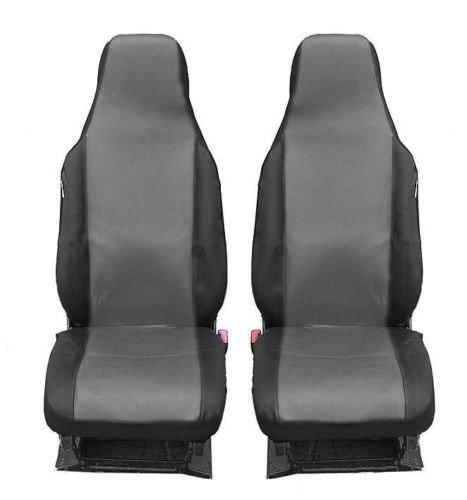 2 vordere Auto Sitzbezug Sitzbezüge Schonbezüge Schonbezug Einteilig Grau Polyester Neu