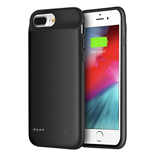Wixann Battery Case for iPhone 8 Plus/7 Plus/6 Plus/6s Plus, 4000mAh Slim Portable Charger Case Protective Rechargeable Battery Pack Charging Case for iPhone 8 Plus/7 Plus/6 Plus/6s Plus