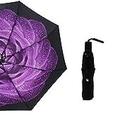 LYJZH Regenschirm, Winddichter, Stabiler Und Kompakter Großschirm, Schnell Trocken, Schwarzer...