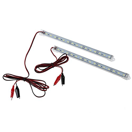 LED Luz - SODIAL(R)2pc 12V Car 15 LED 5630 SMD Luz de tira Interior Lampara Bar Camioneta Caravana Pecera