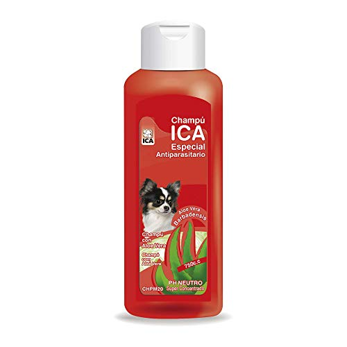 ICA CHPM20 Champú Antiparásitos con Aloe Vera para Perros