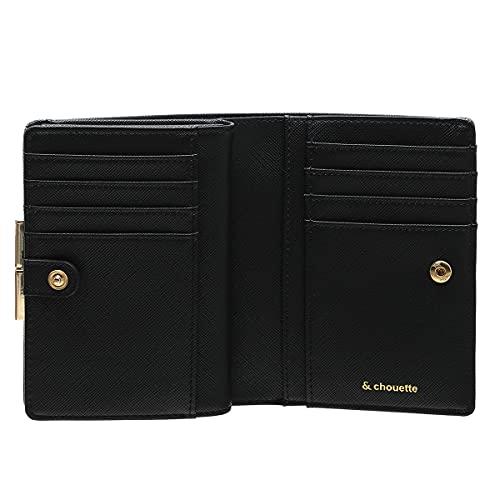 アンドシュエットchouetteがま口口金折財布財布二つ折りチェックビジューシンプルコンパクトレディース大人お洒落サマンサアンドシュエット合皮(グレー)