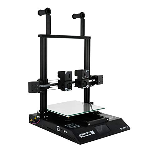 Aibecy 3D Printer Independent Dual Extruder Double Z-axis with Touchscreen Support Filament Run Out Detection Resume Print Function Large Printing Size 300 * 300 * 350mm