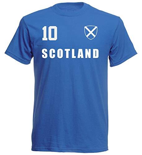 Camiseta de Escocia del Mundial 2018, color azul, ALL-10 azul M