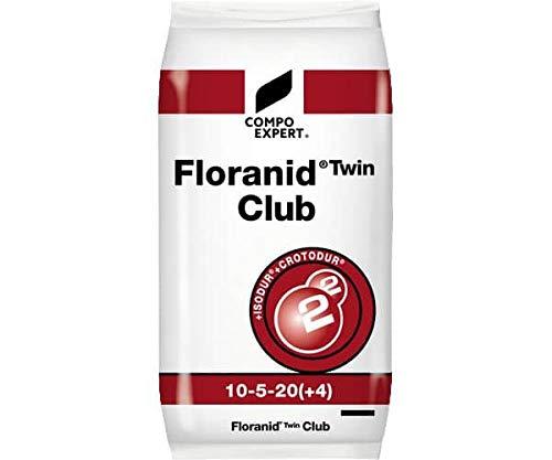 Compo Expert Floranid Engrais Longue durée ® Twin Club 10 + 5 + 20 (+ 4) Engrais pour Gazon Engrais Automne 25 kg
