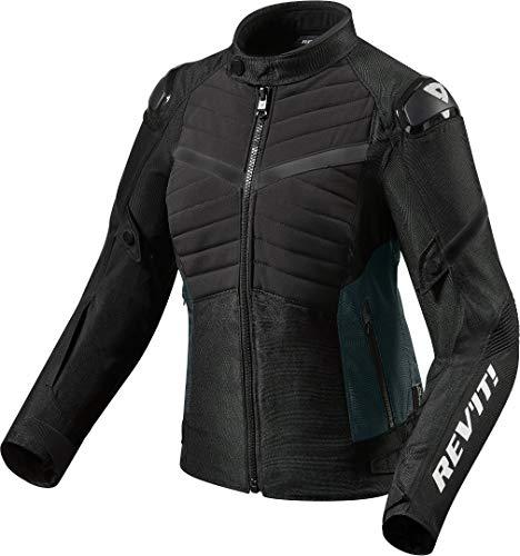 Revit Arc H20 - Chaqueta de moto para mujer, color negro, talla 40