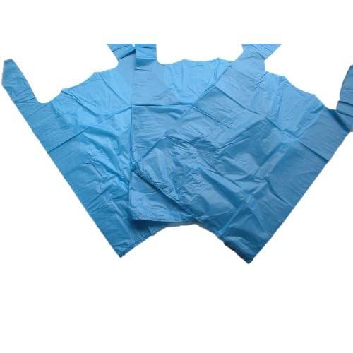 GP Globe Packaging 100 x Strong 27,9 x 43,2 x 53,3 cm blu gilet sacchetti di plastica, 18mu, 1