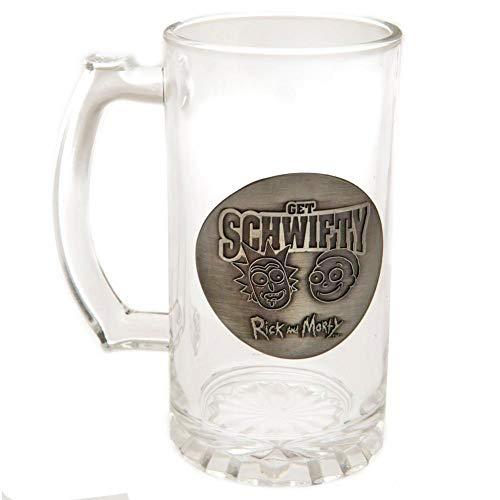 Rick y Morty - Jarra oficial para cerveza (Talla Única) (Transparente)