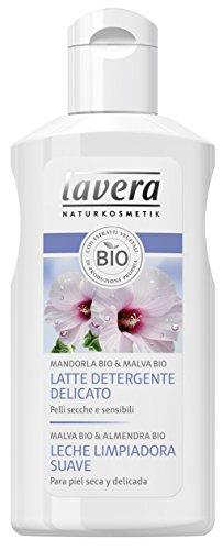 Lavera Leche Limpiadora Suave - Malva Bio & Almendra Bio - vegano - biológico - cosméticos naturales 100% certificados - cuidado de la piel - 4 Recipientes de 125 ml