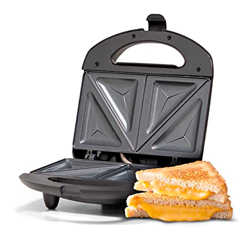 Ufesa SW7860 Sandwichera 750W, Placas Antiadherentes, Sellado Perfecto, 2 Sandwiches, Sin BPA, Inox/Plástico