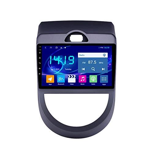 Dscam Car Stereo Android 9.1 Car Stereo GPS Navigation para Kia Soul 2010-2013 Pantalla táctil de 9 Pulgadas Soporte WiFi 4.0 Bluetooth Control del Volante