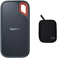 SanDisk SDSSDE60-1T00-G25 1TB Extreme Portable External SSD USB-C USB 3.1 - Grey + Carrycase