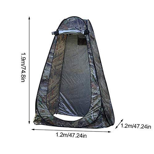 Carpa emergente portátil al aire libre Camping Playa Aseo Ducha Privacidad Vestuario Aseo (camuflaje) Refugio de lluvia con bolsa de transporte Carpa plegable ligera