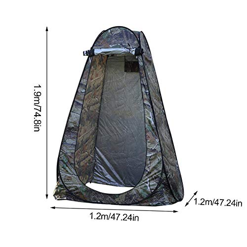 ZXCVBNM Pop-up Camping Privacy Tent Portable Outdoor Shower Tent Waterproof and Foldable Camping Toilet Changing Room for Camping Beach (Cloth Bag)