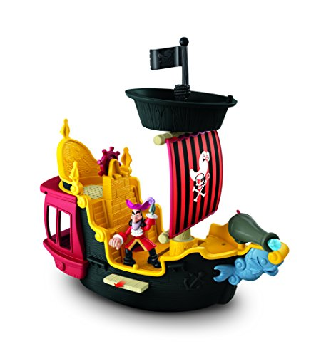 Mattel Fisher-Price Y2265 - Jake und die Nimmerland Piraten Käpt'n Hooks Jolly Roger Piratenschiff